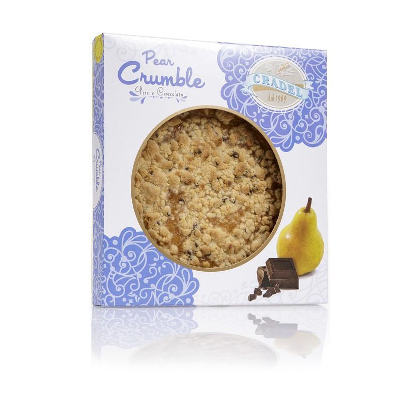 Torta Crumble alla Pera e Cioccolato Cradel