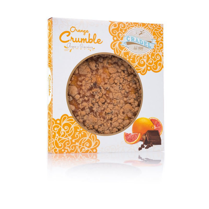 Torta Crumble all'Arancio e cioccolato Cradel