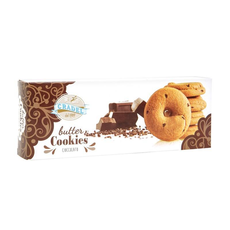 Butter Cookies con gocce di Cioccolato Cradel